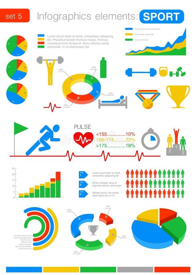 Sport Infographics. Statistiche e analisi dei dati per la b illustrazione vettoriale