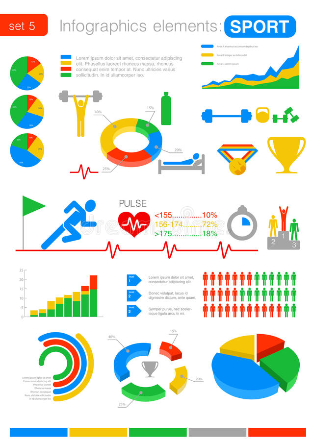 Sport Infographics. Statistiques et analytics pour b illustration de vecteur