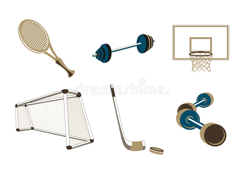 Download Sport items stock vector. Image of equipment, athlete - 8940564