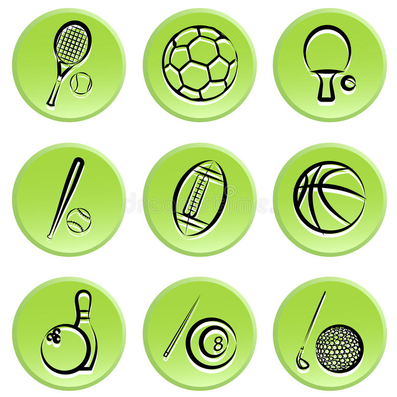 Download Sport items icon stock vector. Illustration of sports - 18366744