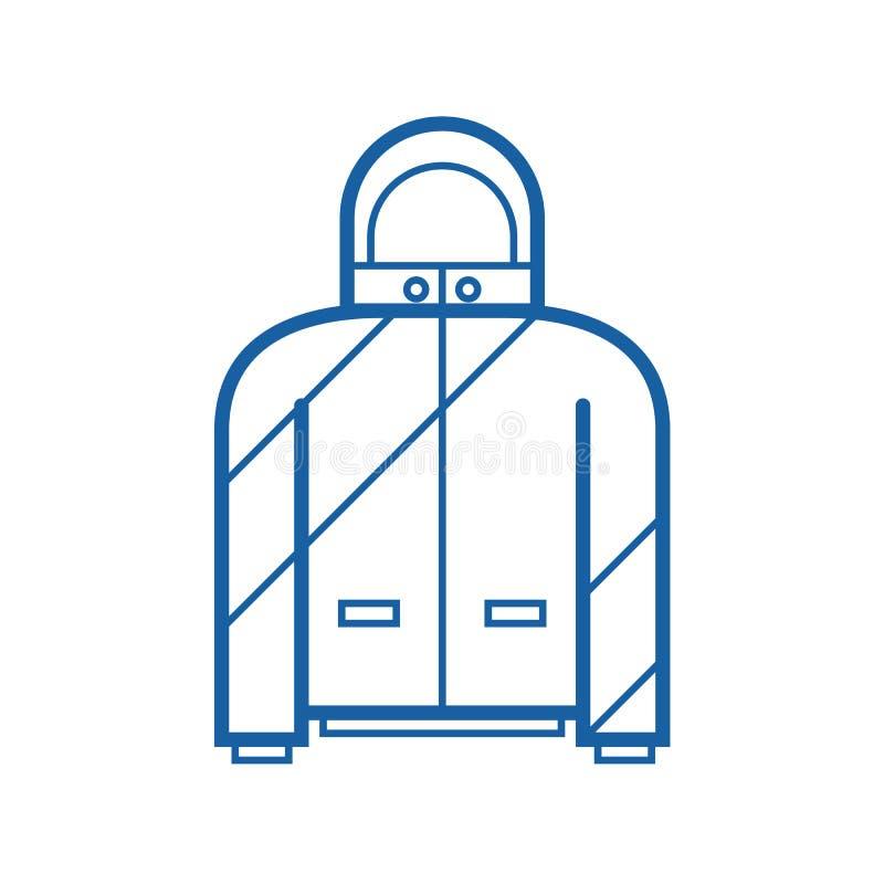 Sport Jacket Outline Icon royalty free illustration