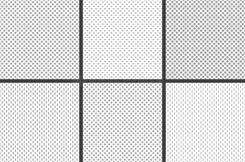 Sport jersey fabric textures. Athletic textile mesh material structure texture, nylon sports wear grid cloth seamless stock illustration