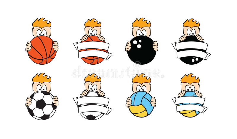 Download Sport and kids logos stock vector. Illustration of netting - 26339192