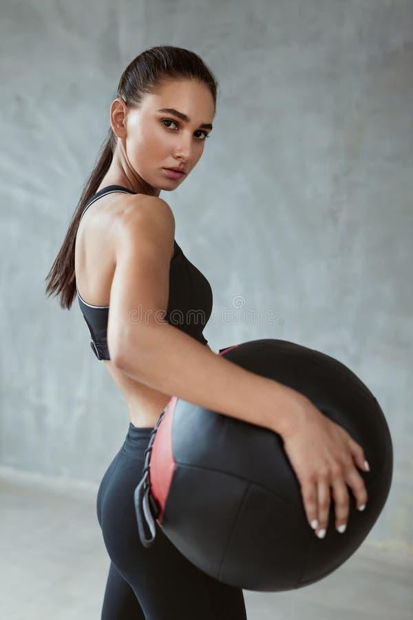 Sport kobiety szkolenie W mody czerni Sportswear obraz stock