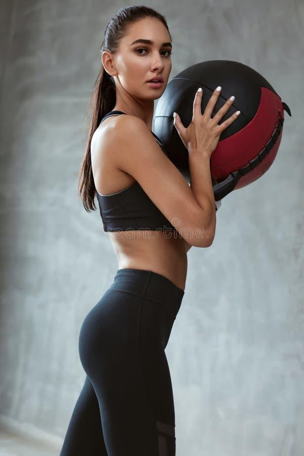 Sport kobiety szkolenie W mody czerni Sportswear zdjęcie royalty free