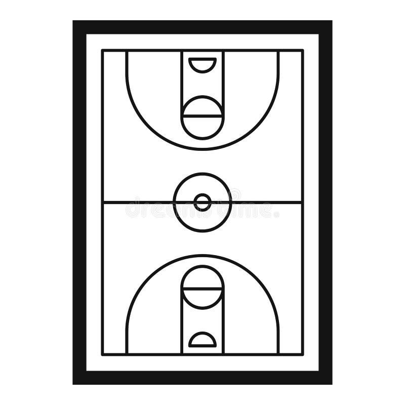Sport koszykówki areny ikona, prosty styl ilustracja wektor