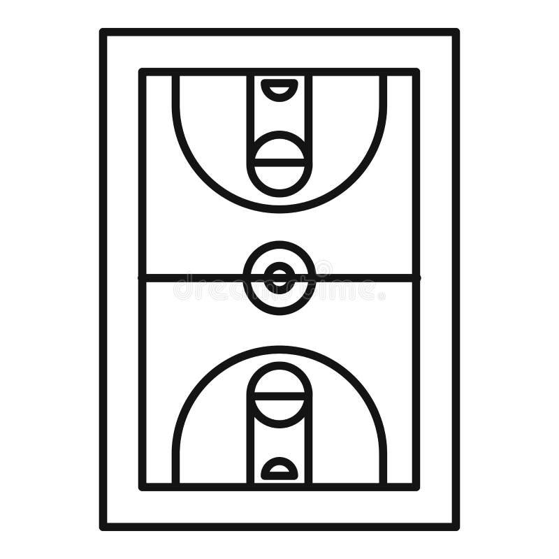 Sport koszykówki ikona, konturu styl royalty ilustracja