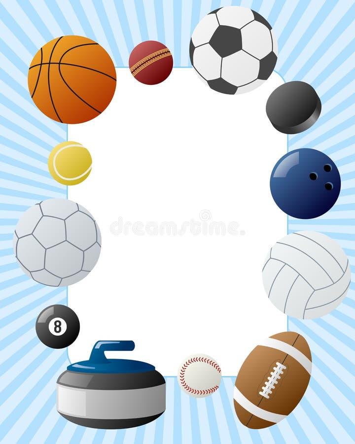 Sport-Kugel-Foto-Feld vektor abbildung