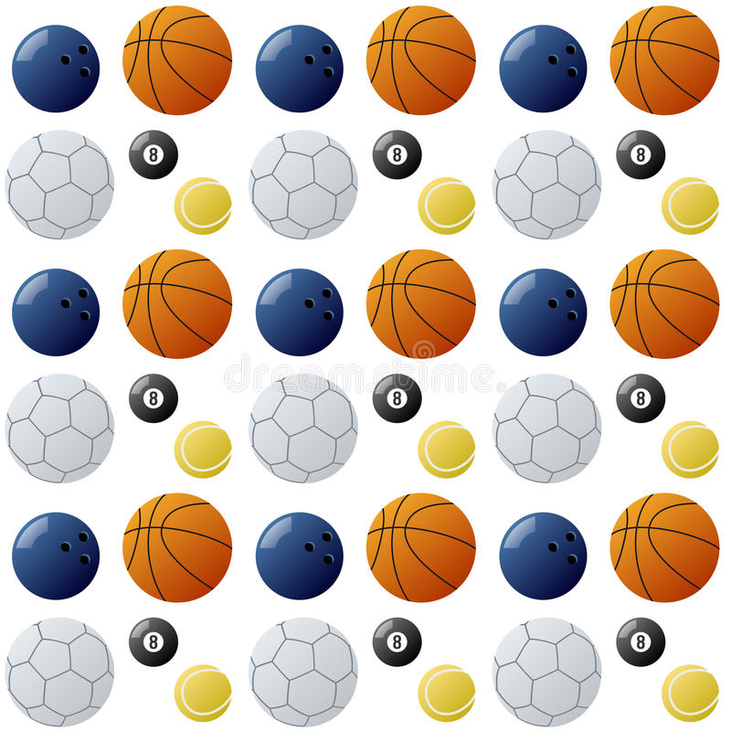 Sport Kugel-nahtloses Muster vektor abbildung