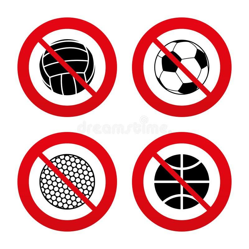 Sport Kugeln Volleyball, Basketball, Fußball lizenzfreie abbildung