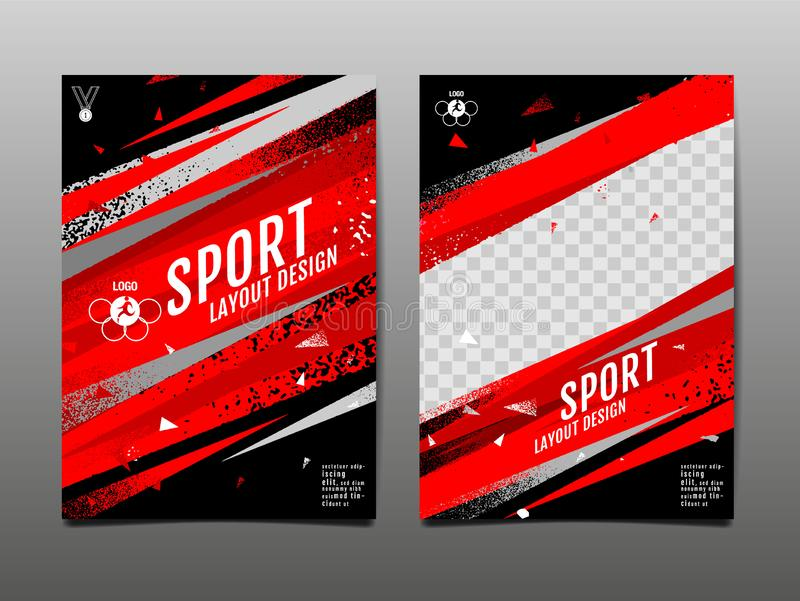 Sport Layout , template Design, Abstract Background, Dynamic Poster, Brush Speed Banner, grunge royalty free illustration
