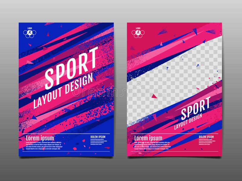 Sport Layout , template Design, Abstract Background, Dynamic Poster, grunge ,Vector Illustration vector illustration