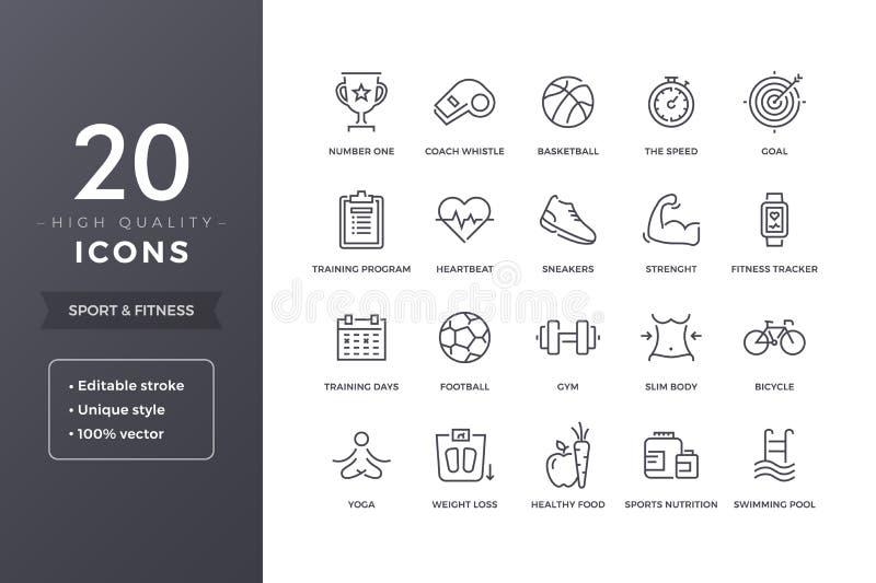 Sport Line Icons vector illustration