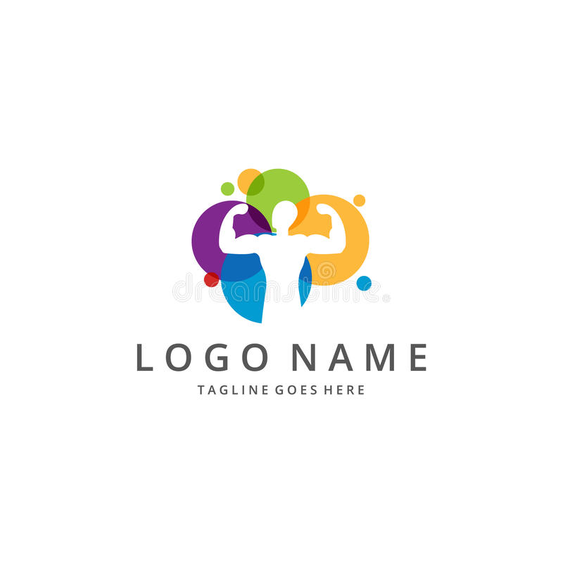 Sport logo. Logo suitable for businesses and product names. Easy to edit, change size, color and text vector illustration