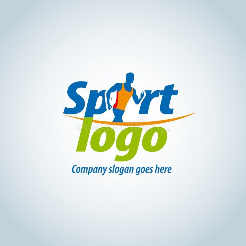 Sport logotype malplaatje, sportclub, het lopende club en fitness malplaatje van het embleemontwerp stock illustratie