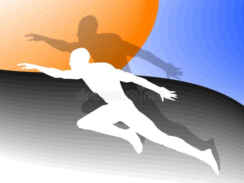 Sport man. Athlete on a color background royalty free illustration