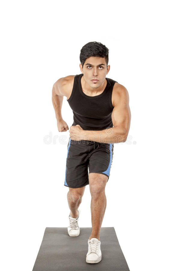 Download The Sport Man In Black Is Running Stock Image - Image: 27536371