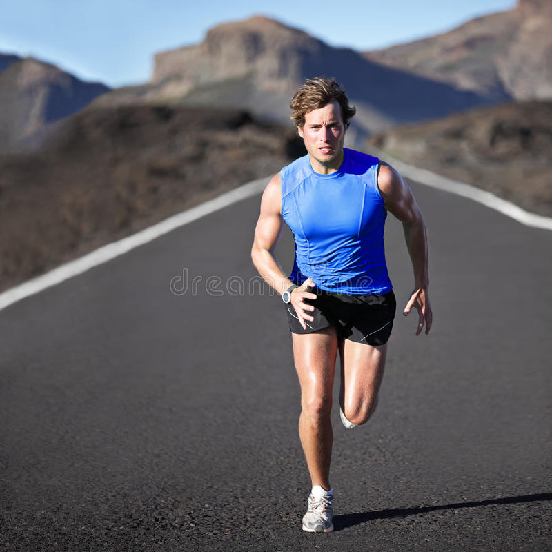 Sport man running royalty free stock photography