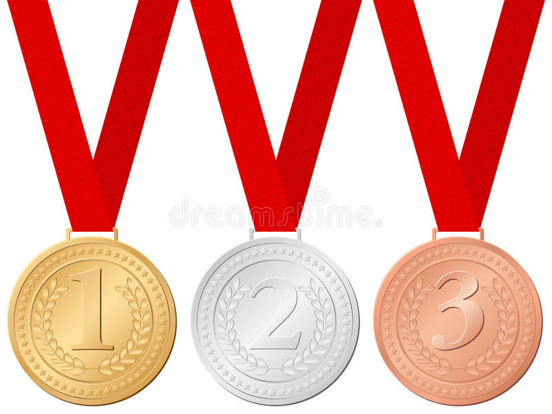 Download Sport medals stock vector. Image of competition, gold - 16554241