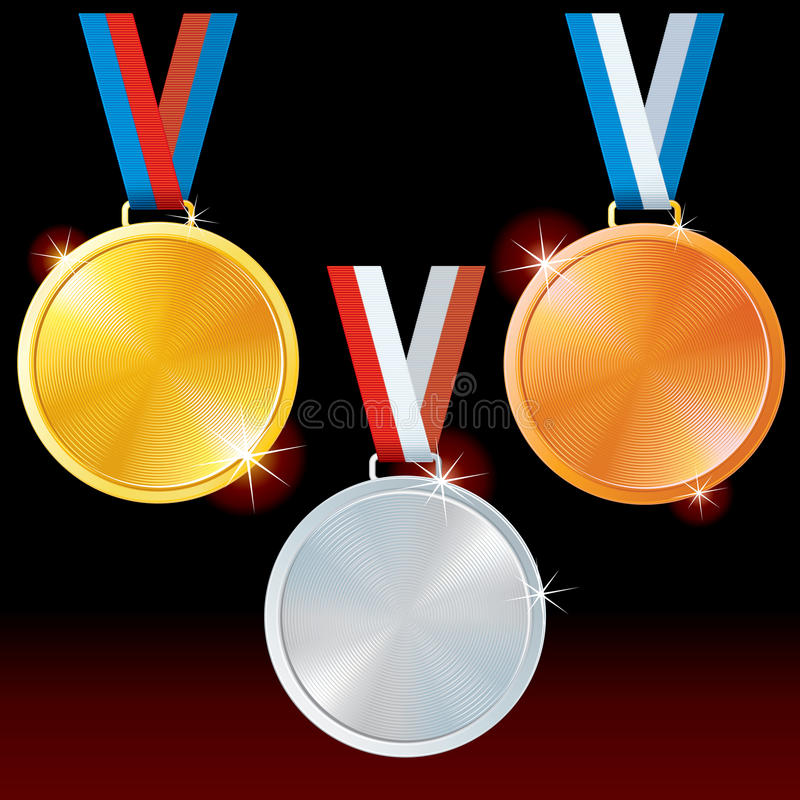 Download Sport Medals stock vector. Image of badge, icon, bronze - 26397682