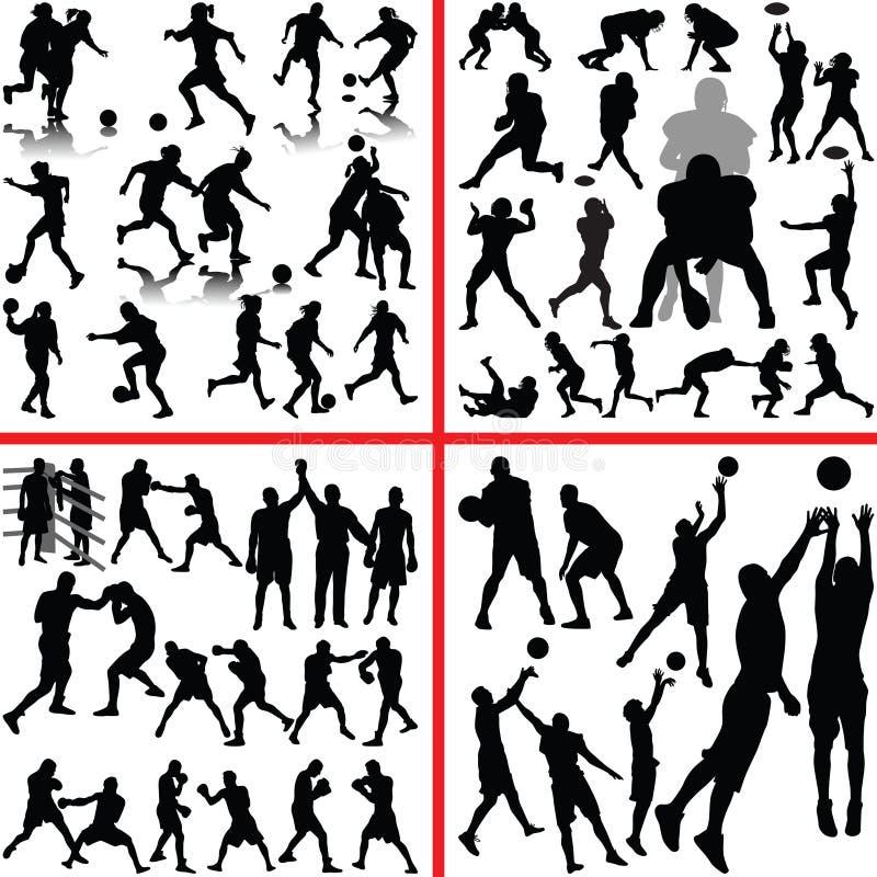 Sport mieszanka ilustracja wektor