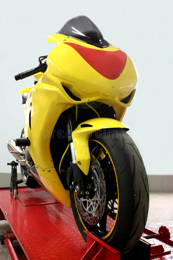 A sport motorbike stock images