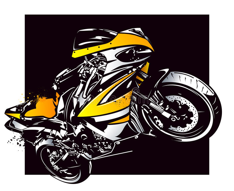 Download Sport motorbike stock vector. Image of fast, bike, race - 31423510