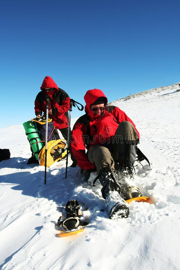 sport na śnieg na zimę obraz stock