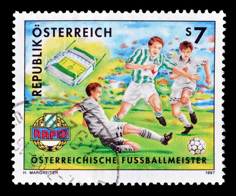 Sport na znaczkach pocztowych fotografia royalty free