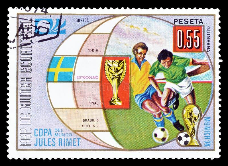 Sport na znaczkach pocztowych obrazy royalty free