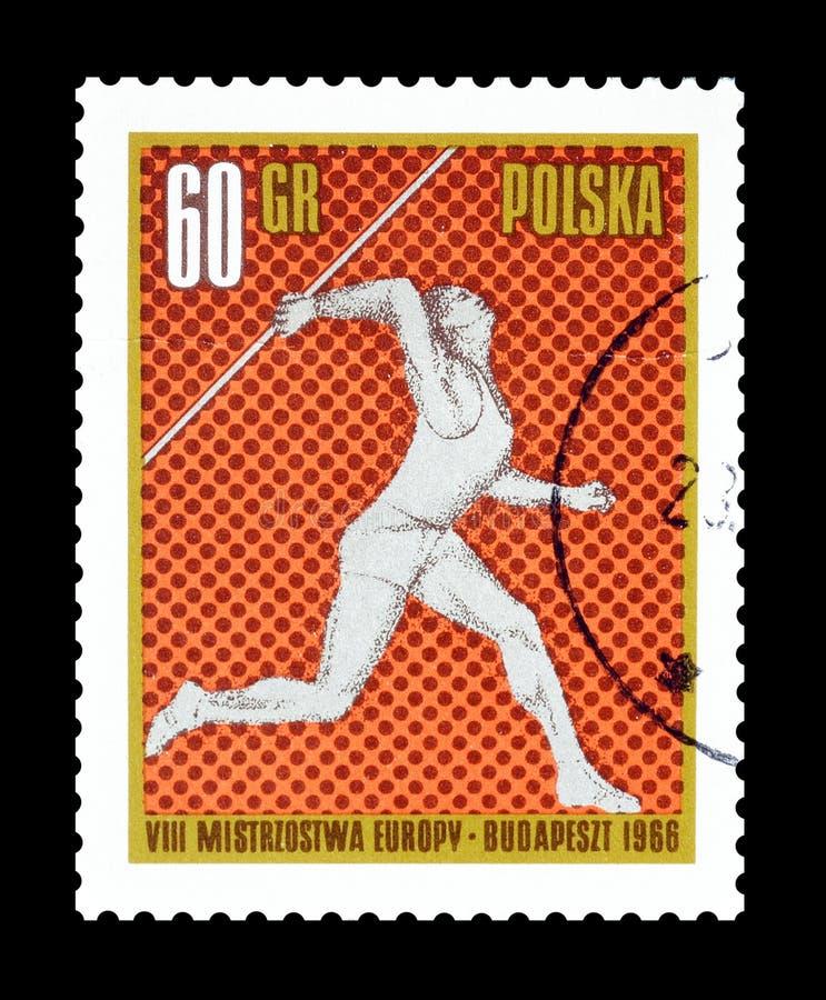 Sport na znaczkach pocztowych obraz stock