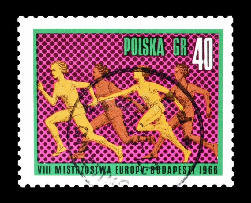 Sport na znaczkach pocztowych zdjęcie stock