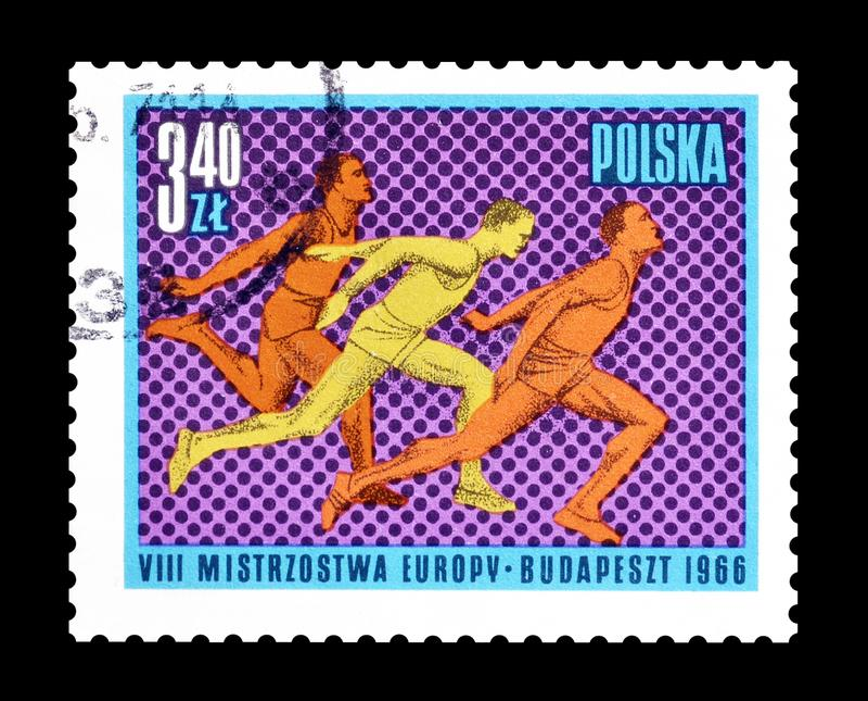 Sport na znaczkach pocztowych fotografia stock