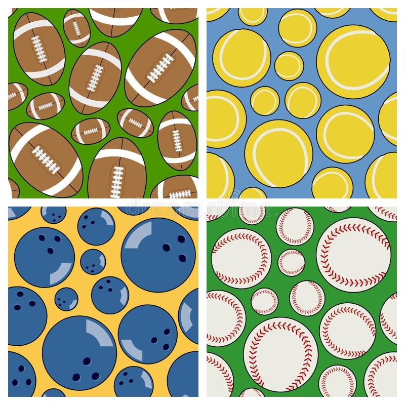 Sport-nahtlose Muster eingestellt [2] stock abbildung