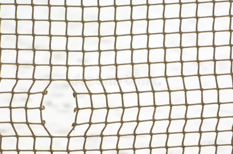 Sport net with hole stock images