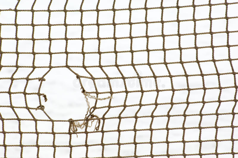 Sport net with hole stock photography
