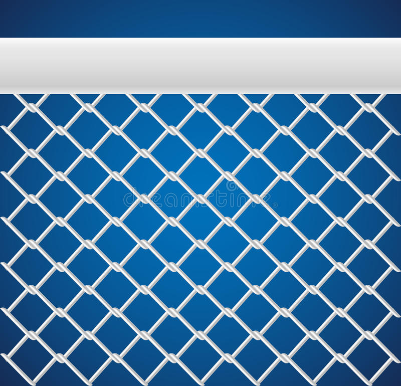 Sport net pattern texture. White Sport net pattern texture on blue background vector illustration
