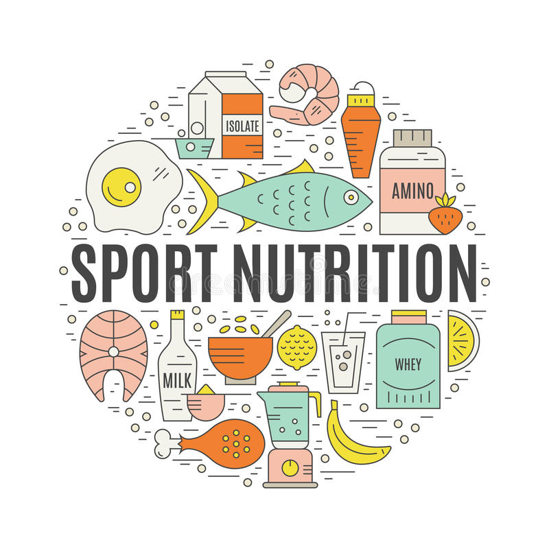 Souvent Sport Nutrition stock vector. Image of habit, healthy - 67690441 QK27