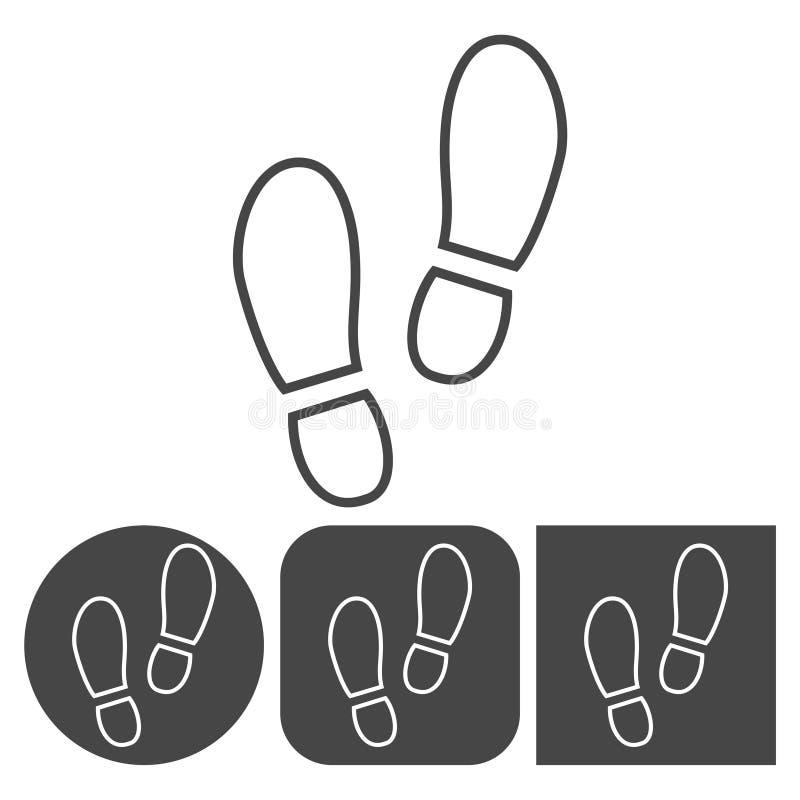 Sport obuwiana ikona - wektorowe ikony ustawiać ilustracja wektor