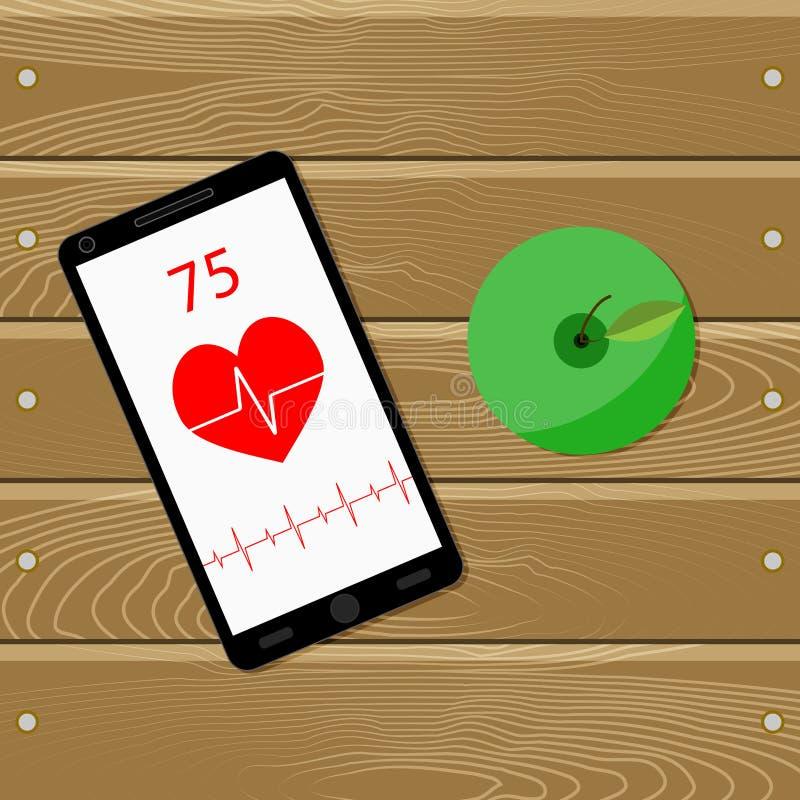 Sport och hälsa för hjärta stock illustrationer
