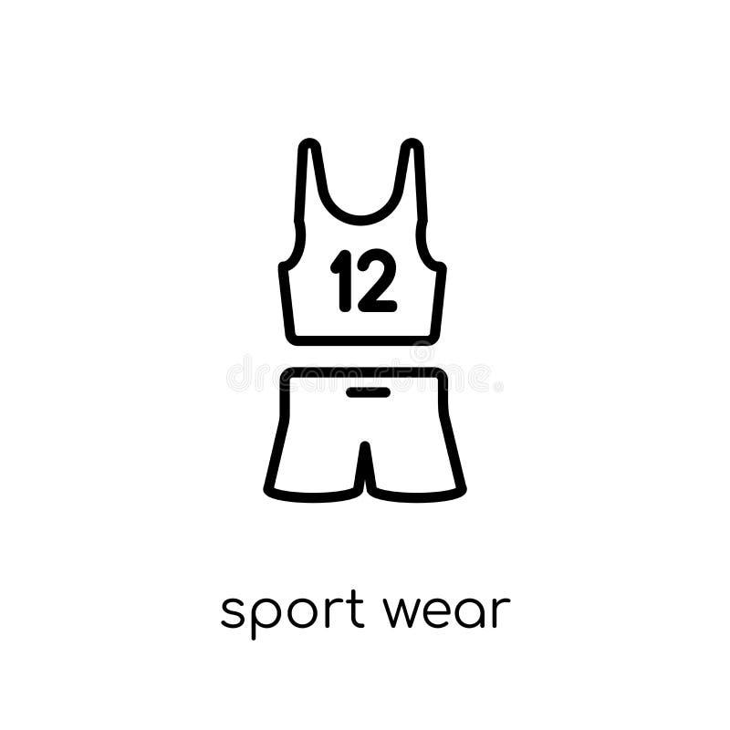 Sport odzieży ikona Modny nowożytny płaski liniowy wektorowy sport odzieży ico ilustracja wektor