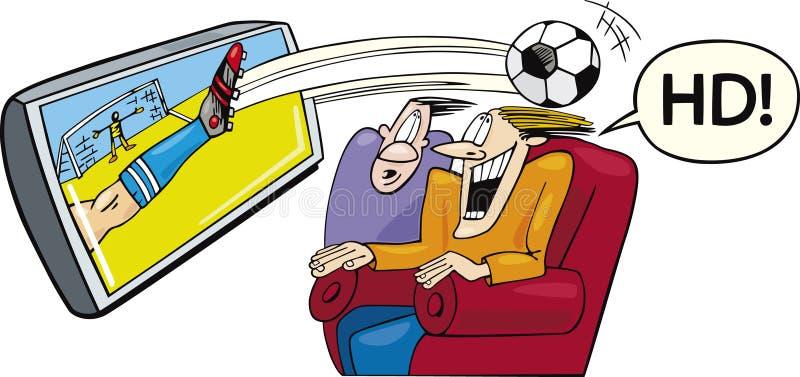 Sport op hoge-definitietelevisie stock illustratie