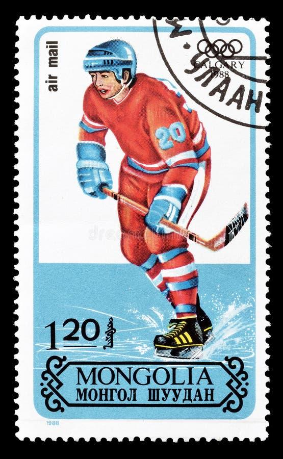 Sport op postzegels royalty-vrije stock afbeelding