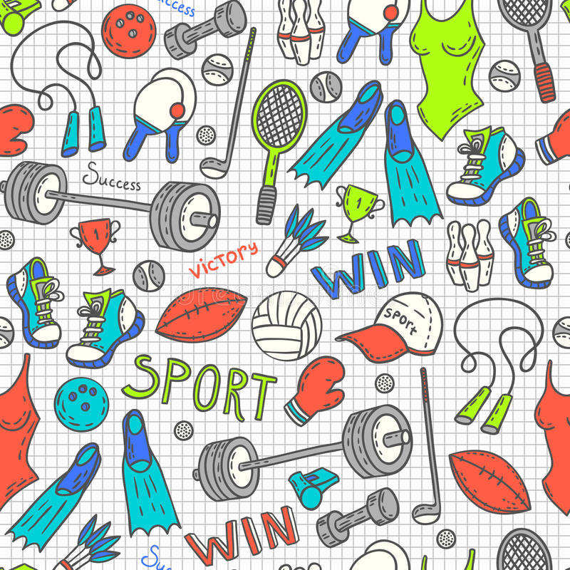 Download Sport pattern stock vector. Image of american, physical - 59439783