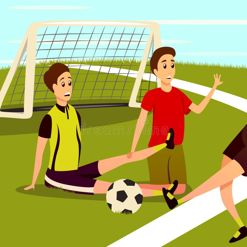 Sport Physical Injury Background royalty free illustration