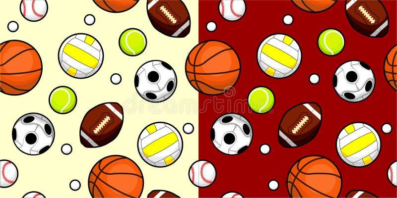 Sport piłka Bezszwowa ilustracji