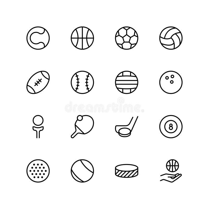 Sport piłki ikona ilustracja wektor