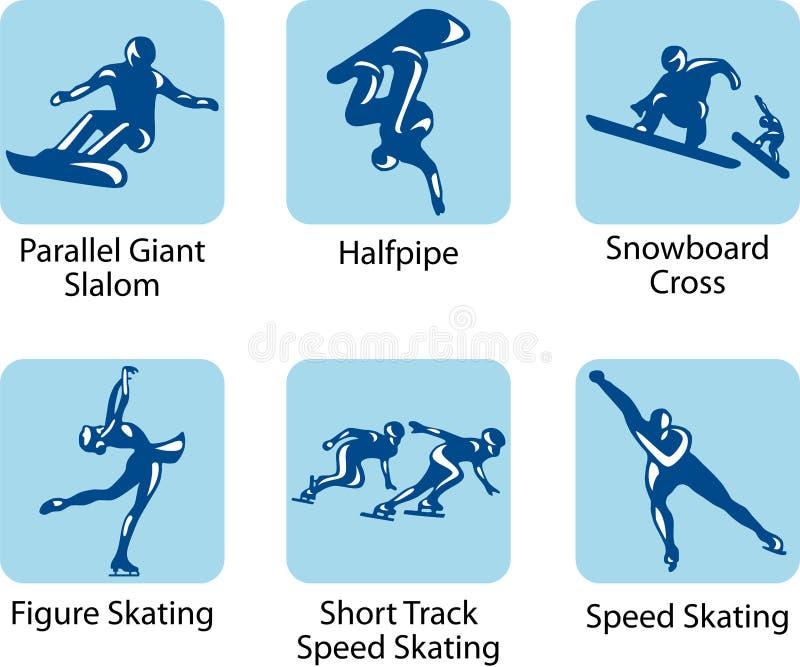Sport pictograms royalty free illustration