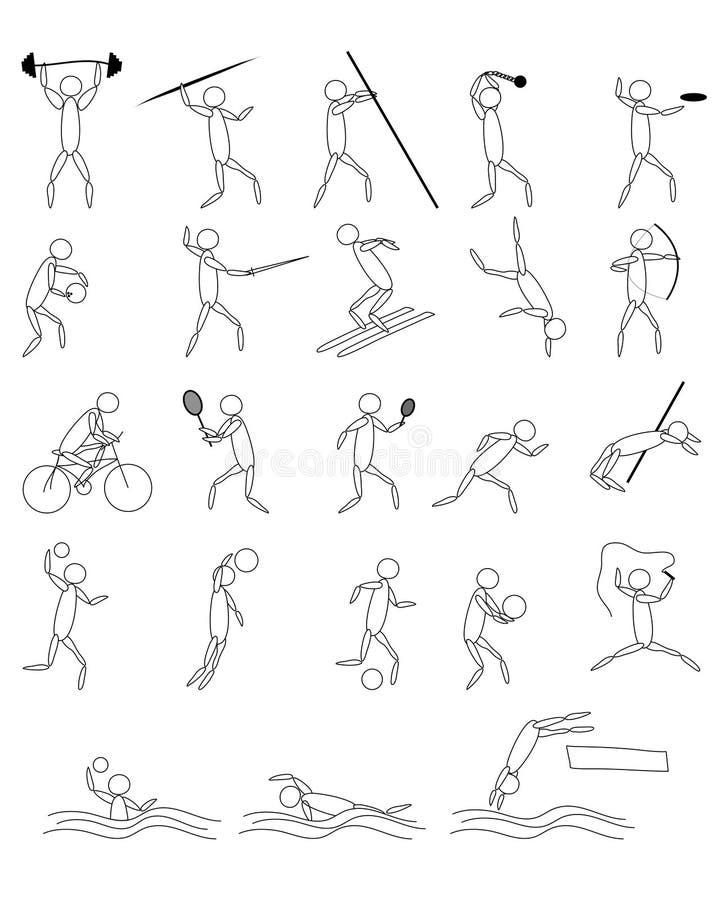 Sport pictograms stock illustration