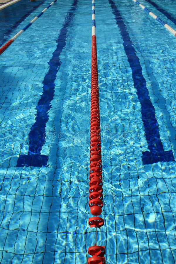 Sport pool ropes stock images